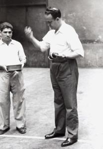 Pelotamano Alberto Vidarte Frontón Cinema de Zarauz 1955