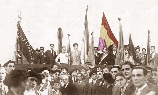 Proclamación de la Republica. Foto: Castrillo Ortuoste. Fondo Municipal Eibar