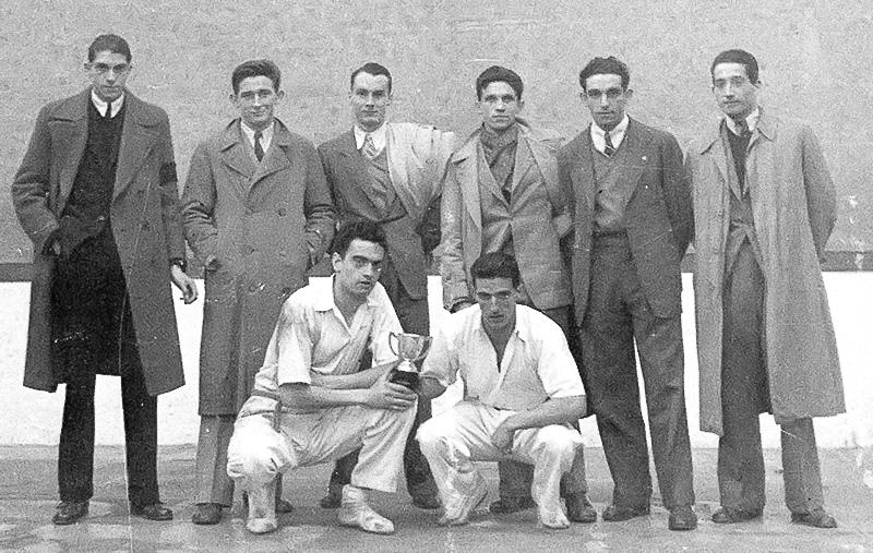 Bixente Jauregi y Oregi, campeones. Toribio Jauregi Fondoa