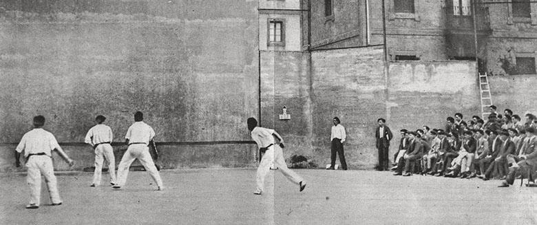 Frontón Astelena sin cubrir. 1904